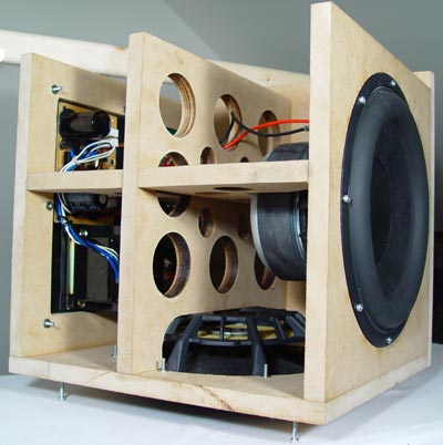 construction of the peerless xls10 subwoofer enclosure